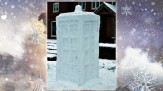 The Snow TARDIS at nearly 6ft tall! Made by Jack
