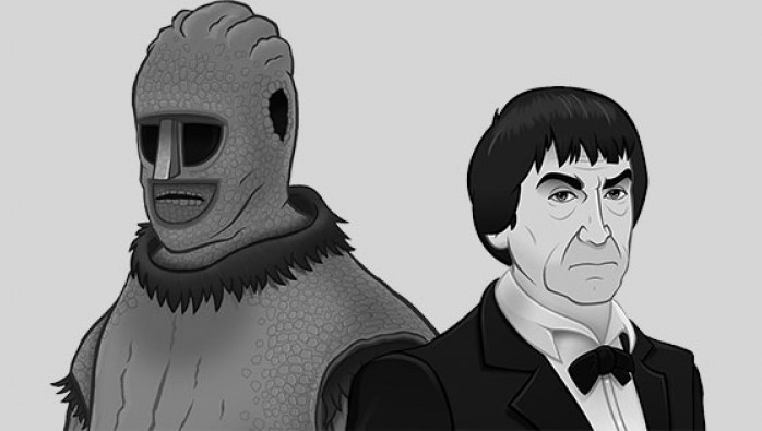 Varga and the Doctor in Doctor Who: The Ice Warriors animated episodes