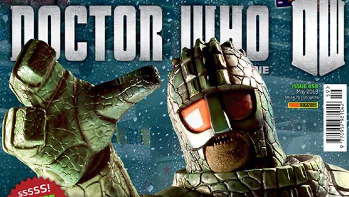 Ice Warrior on the cover of Doctor Who Magazine