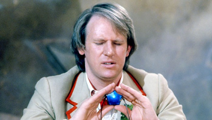 The Fifth Doctor concentrates in Doctor Who: Snakedance