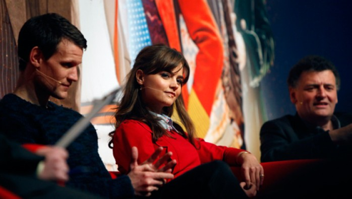 Jenna Coleman on the Eleventh Hour panel at the Doctor Who Celebration
