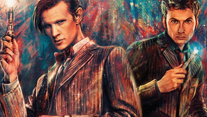 The Tenth and Eleventh Doctor by Alice Zhang for Titan Comics new Doctor Who range
