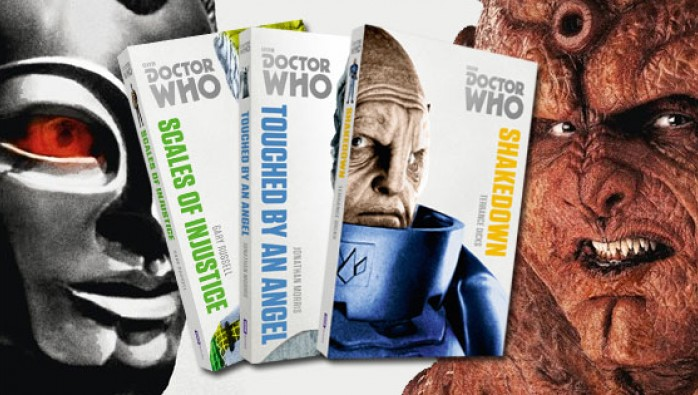 Covers for Doctor Who Monsters Collections novels