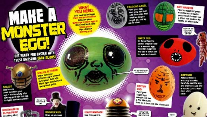 Monster Egg feature from Doctor Who Adventures issue 343