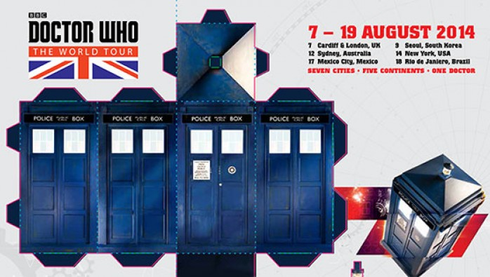 Doctor Who: The World Tour foldable TARDIS