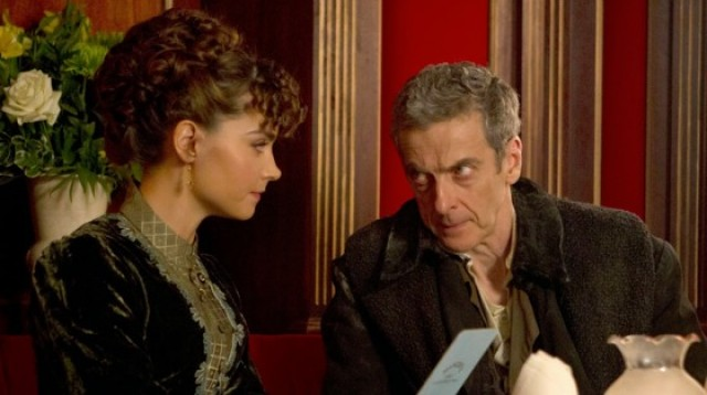 Peter Capaldi and Jenna Coleman in Doctor Who: Deep Breath