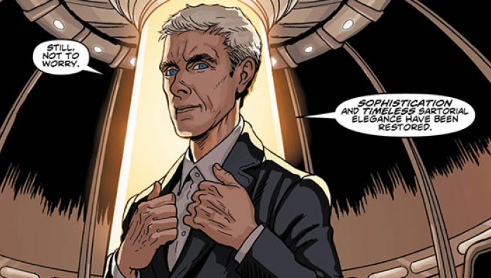 A panel from Doctor Who: The Twelfth Doctor #1 by Titan Comics