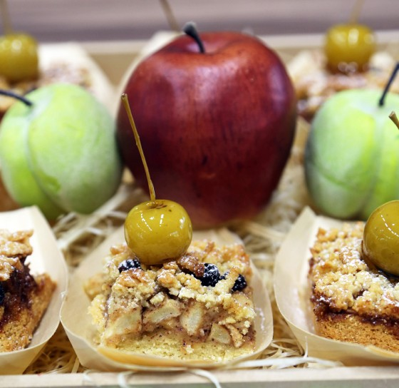 Spicy apple and raisin traybake recipe by Teddy from The Great South African Bake Off