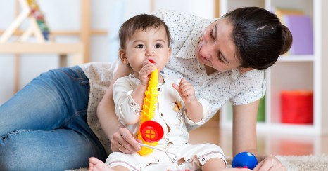Music helps babies and children learn