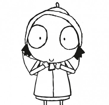 sarah and duck coloring pages - photo#22