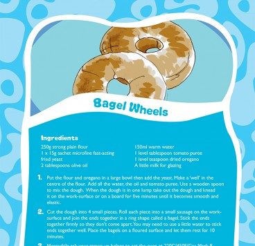 Bagel Wheels recipe