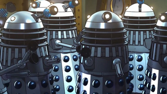 The Power of the Daleks in COLOUR!