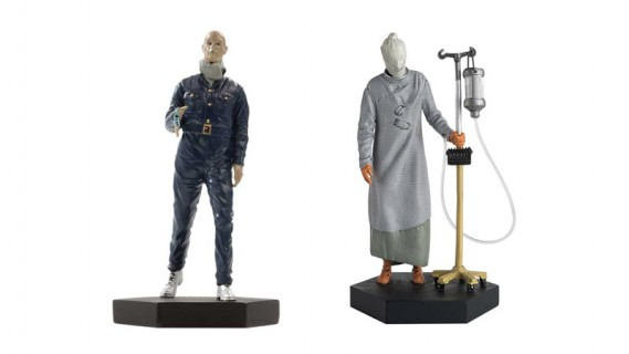 Autons and pre-conversion Cybermen from Doctor Who Figurine Collection