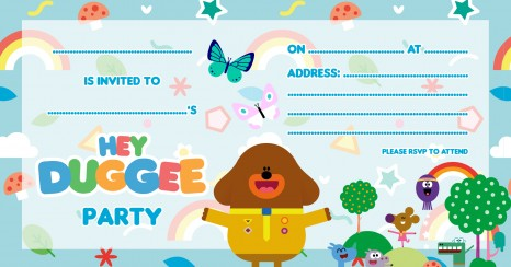 Hey Duggee party planning