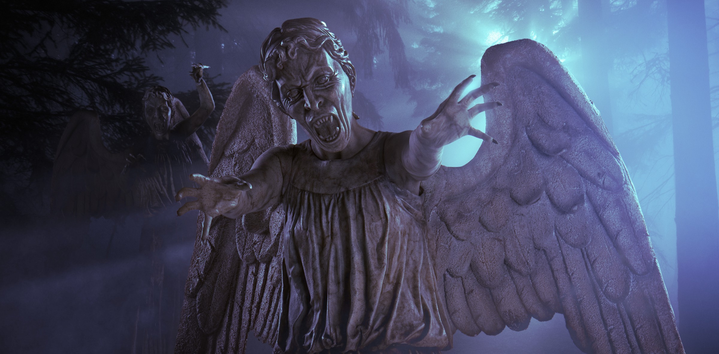 weeping angels explore doctor who