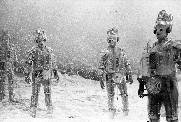 The Cybermen, a strangely human race of people who appear in The Tenth Planet (1966).