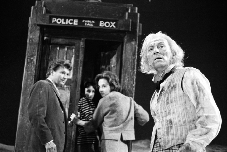 William Russell as Ian Chesterton, Jacqueline Hill as Barbara Wright and William Hartnell as the First Doctor. The first story, An Unearthly Child (1963), is set in Palaeolithic times and relates the adventures met by teachers Ian Chester and Barbara Wright when they attempt to solve the mystery surrounding fifteen year old pupil Susan Foreman.