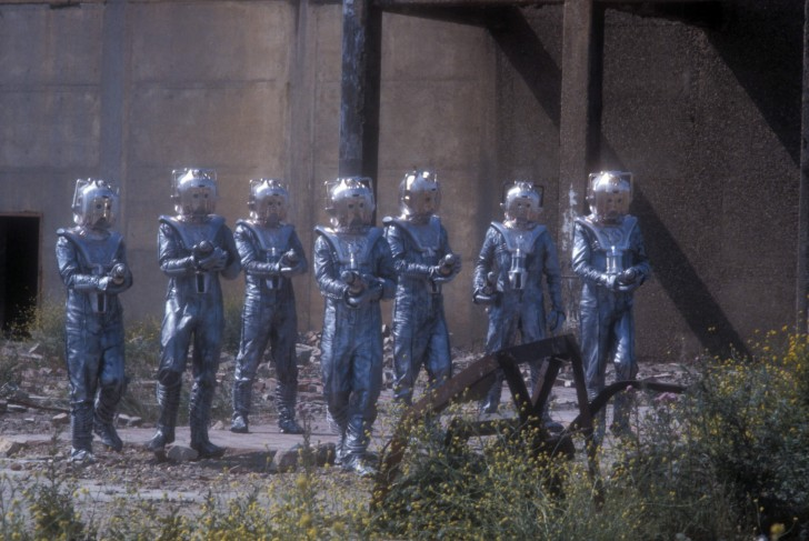 A group of Cybermen gather in Silver Nemesis (1988).