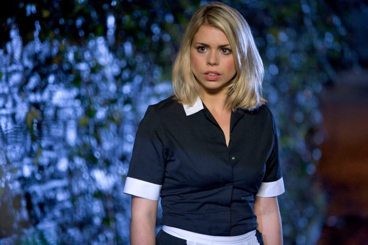 Billie Piper as Rose Tyler in The Age of Steel (2006).