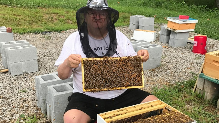 Beekeeping saved Eric Grandon's life © Supplied