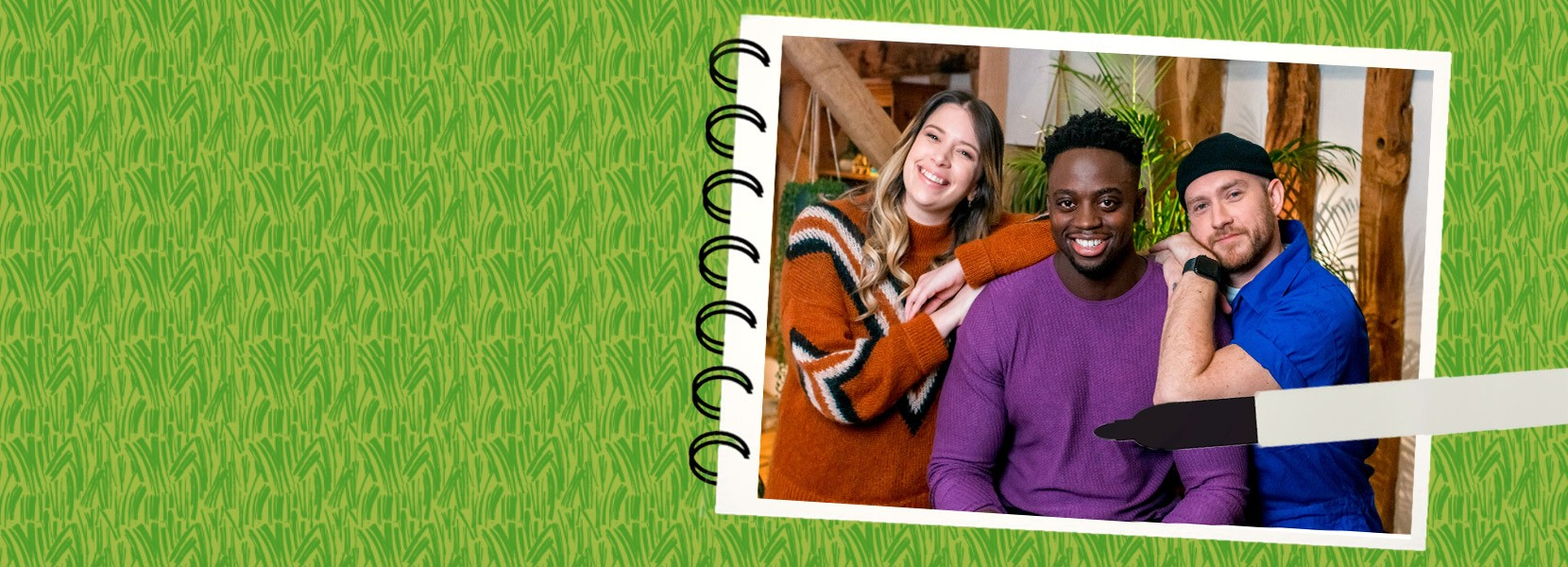 Earth Sketch Pad banner showing the Ricky Martin, Lorna Harrington and Musa Drammeh
