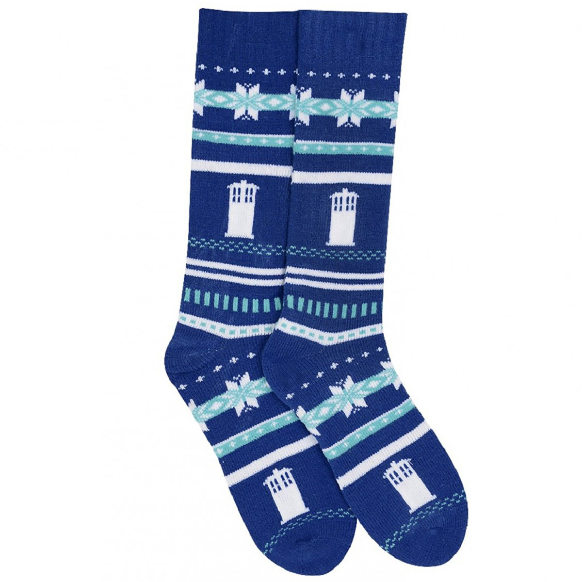 TARDIS Holiday Chunky Knit Socks
