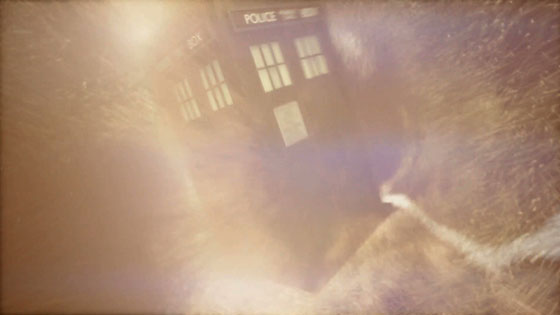 The TARDIS in the vortex