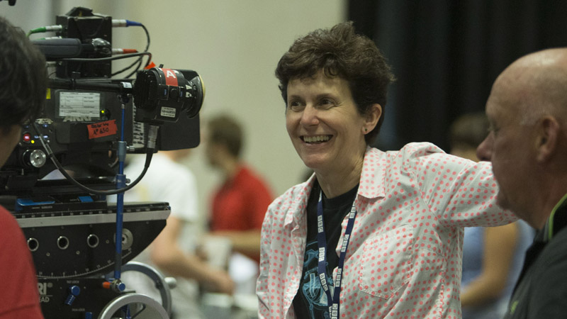 Rachel Talalay in action on Doctor Who